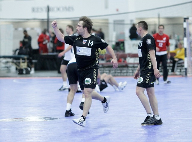 Inter players are pumped up to play handball